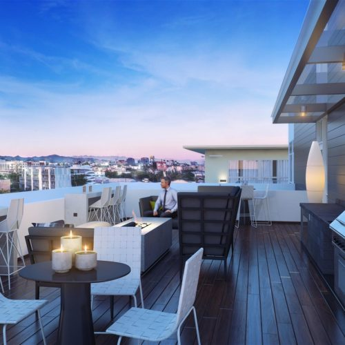 Domain WeHo Rooftop Lounge overlooking West Hollywood