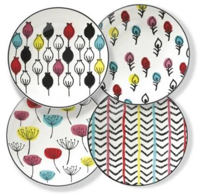 Mid century modern inspired plates